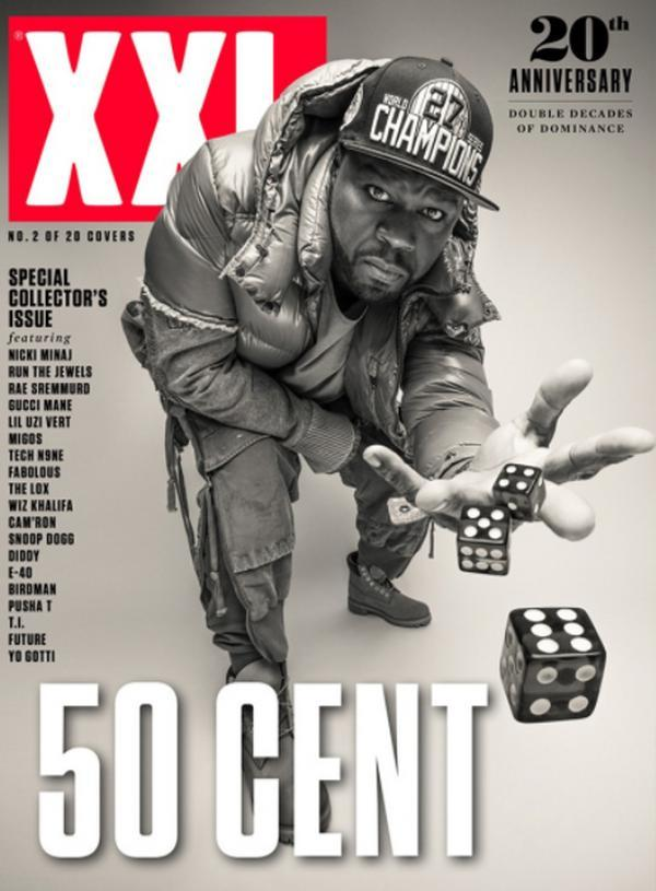 50 Cent Named XXL's 20th Anniversary Cover King (With 15 Total)