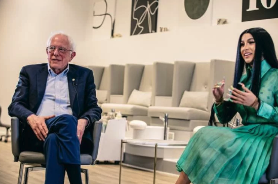 Cardi B and Bernie Sanders Meet Up for Campaign Video About America's Future
