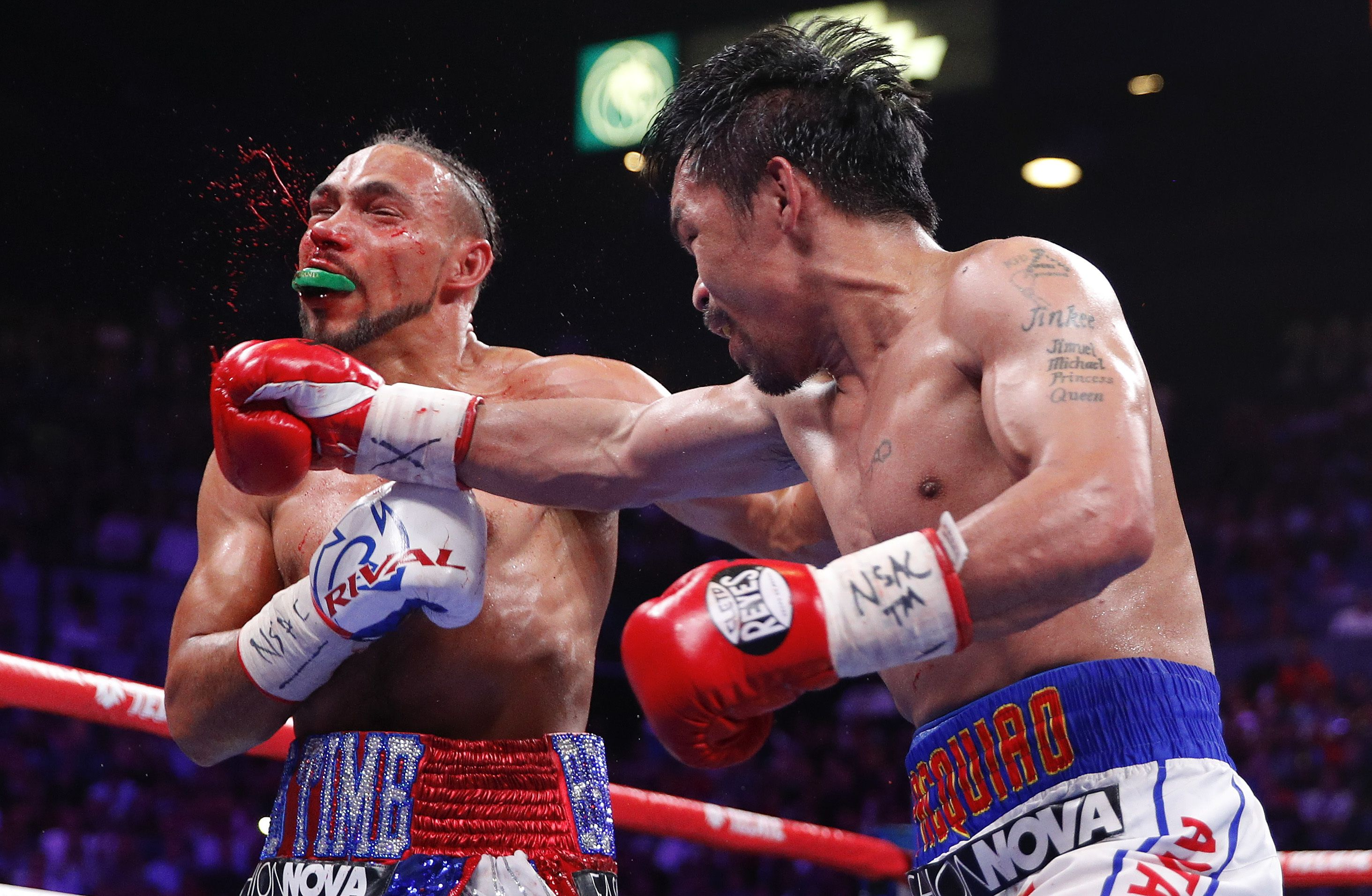 Manny Pacquiao Wins Welterweight Title After Defeating Keith Thurman