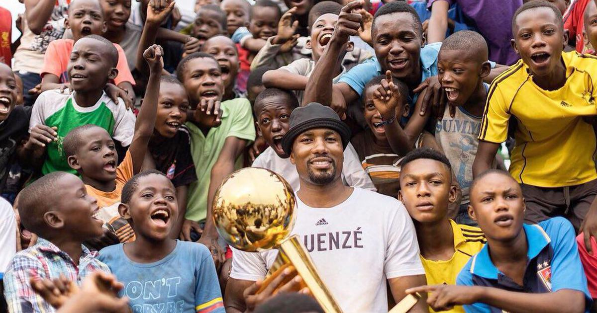 Serge Ibaka Takes Larry O'Brien Championship Trophy to the Congo