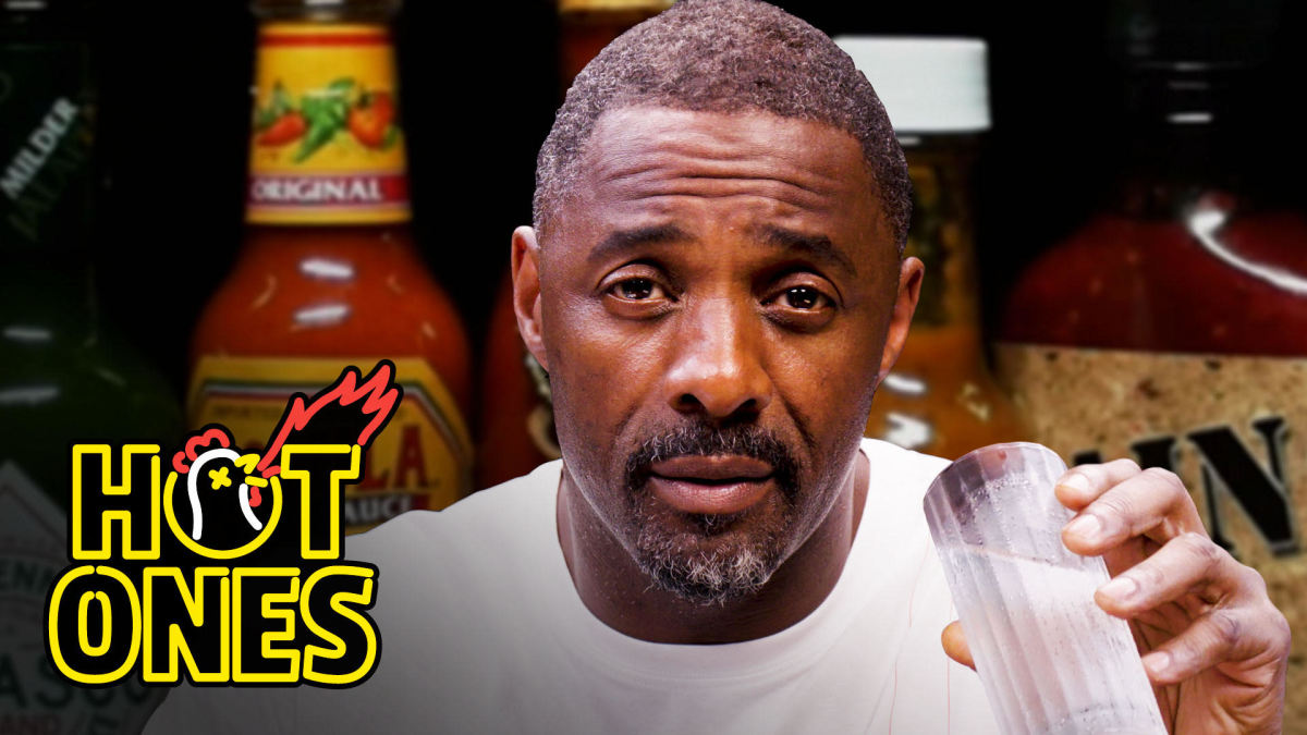 "Idris Elba  gets interviewed on ""Hot Ones"":  Talks Roles on The Wire, Reveals He Pretended to Be American to Get His Role"