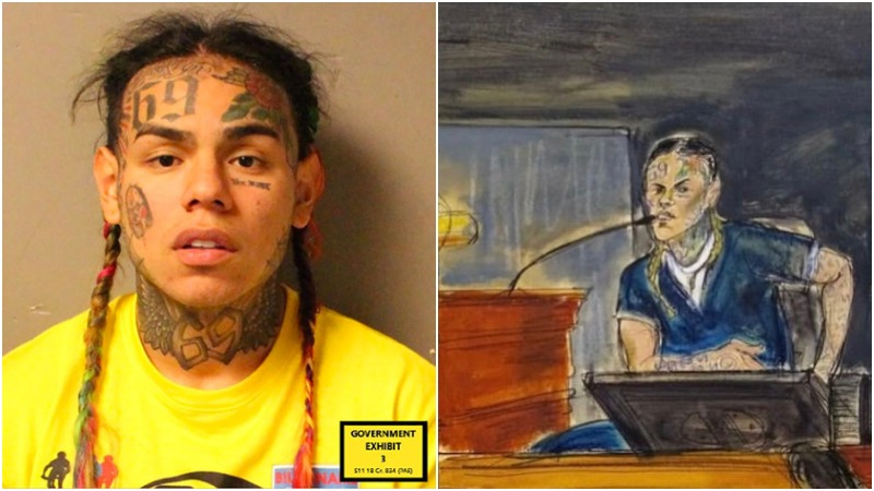Video Surfaces of Tekashi Testifying on the Stand in Court