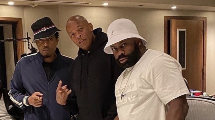 Dr. Dre and Nas Spotted in the Studio Together