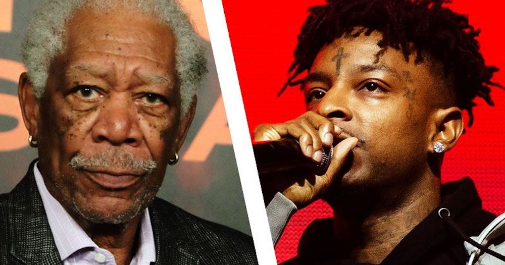 Morgan Freeman Explains Snitches vs. Rats on 'Savage Mode II'