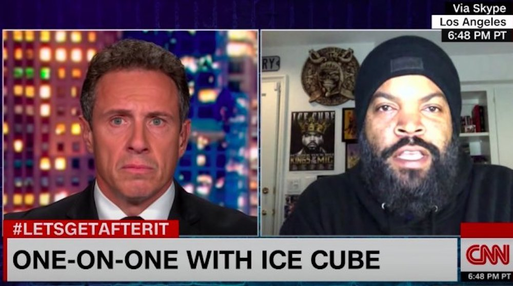 Ice Cube Appears on CNN After Alleged Ban to Address Trump Backlash
