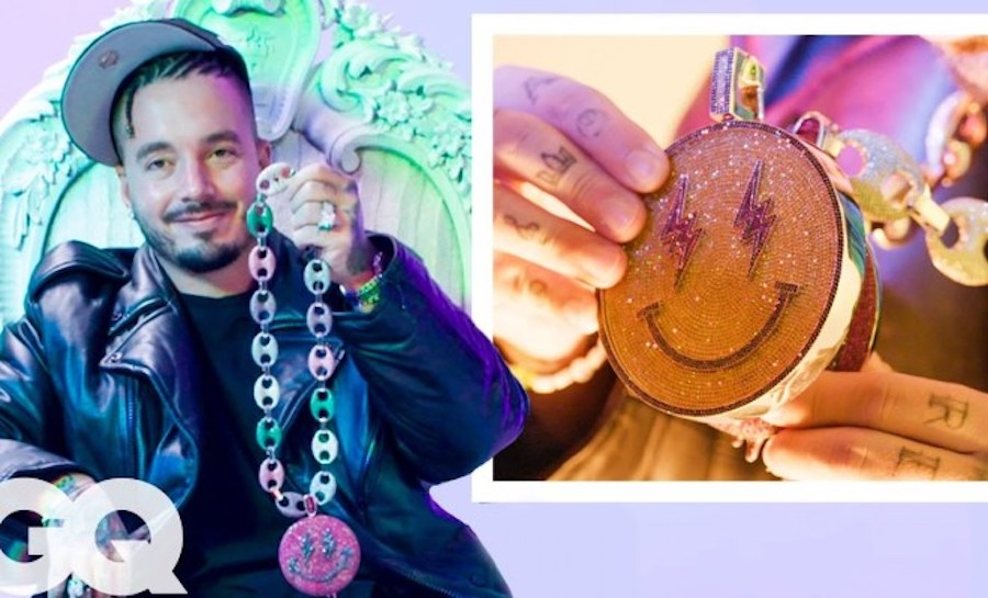 J Balvin Shows Off More of His Insane Jewelry Collection with GQ 'On the Rocks'