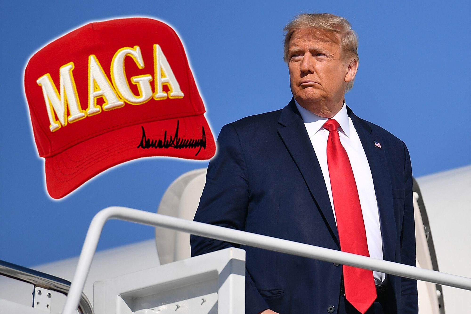 Trump Unveils New 'MAGA' Hat Design, Says He Designed It